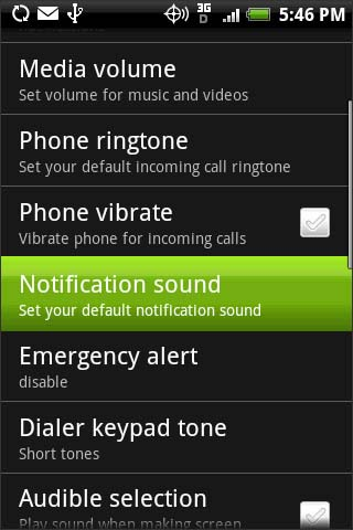 Notification sound