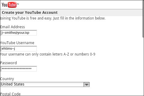 Create YouTube account