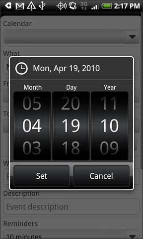 Ajustar fecha de inicio