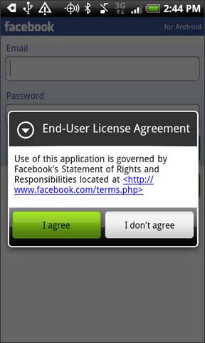 Agree with license agreement
