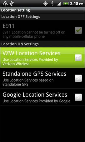 VZW location location services