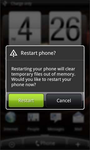 Restart phone y Restart
