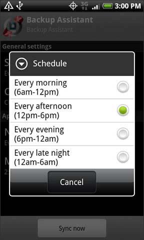 Selecciona una opción de cronograma
