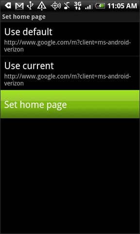 Set home page