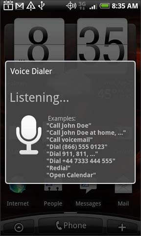 Say Voice Dialer command