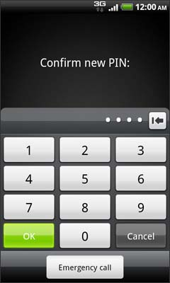 Confirm new PIN