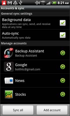 Touch Backup Assistant