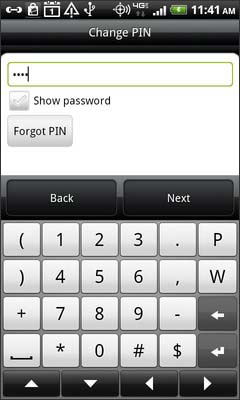 Enter the 4-8 digit PIN then select Next