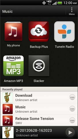 Music, My phone