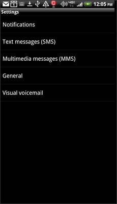Select Text Messages (SMS) or Multimedia Messages (MMS)