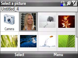 Select a picture screen