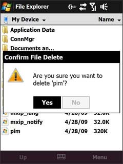 File Explorer Confirm Delete