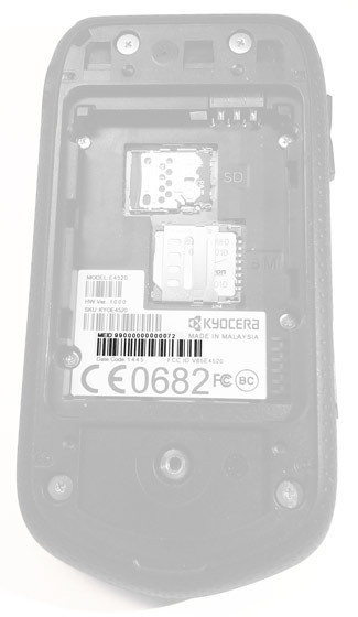 External barcode within the battery compartment