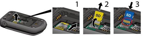 Memory card insert/remove process