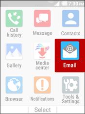 Selecciona Email