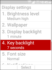 Select Key Backlight