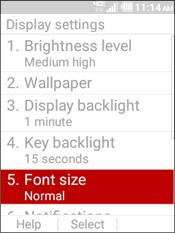 Selecciona Font Size