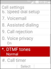 Selecciona DTMF tones