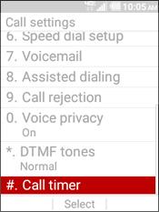 Select Call Timer