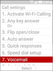 Selecciona Voicemail