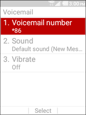 Select Voicemail Number
