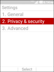 Select Privacy & Security