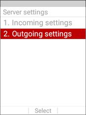 Select Outgoing Settings
