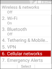 Select Cellular Network