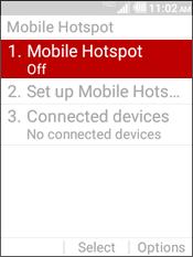 "Selecciona ""Mobile Hotspot""."
