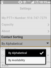 Select Contact Sorting