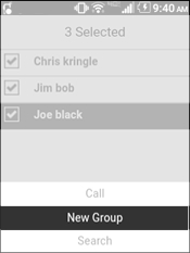 Select New Group