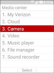 Selecciona Camera