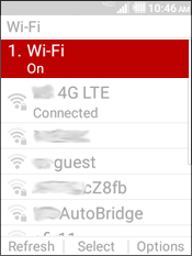 Selecciona Wi-Fi