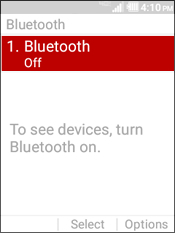 Selecciona Bluetooth