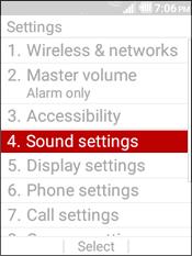Selecciona Sound Settings