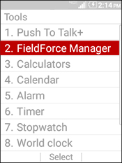 Select FieldForce Manager