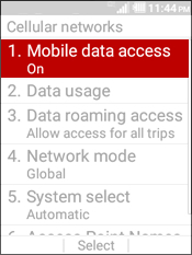 Select Mobile Data Access