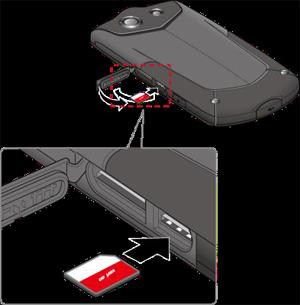 Insertar la tarjeta SIM en la ranura de la tarjeta SIM