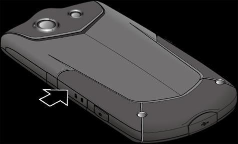 Cubierta de la ranura de la tarjeta SIM/microSD cerrada