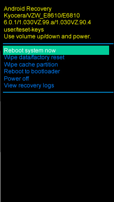 Select Reboot System Now