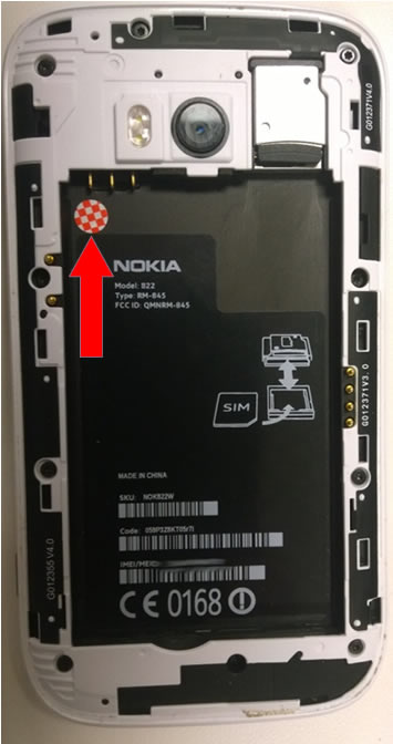 Nokia LDI Battery Tray Face