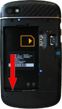Bandeja de la batería con indicadores LDI de Blackberry