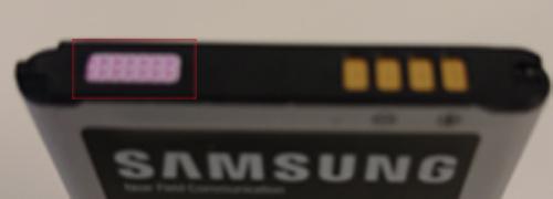Indicadores LDI sobre la batería de Samsung