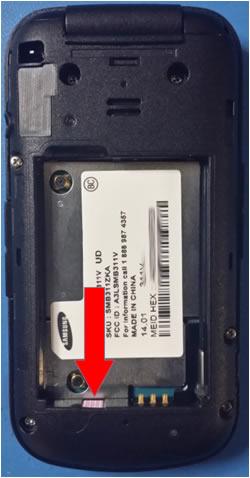 Pared de la bandeja de la batería con indicadores LDI de Samsung