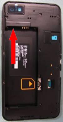 Pared de la bandeja de la batería con indicadores LDI de Blackberry