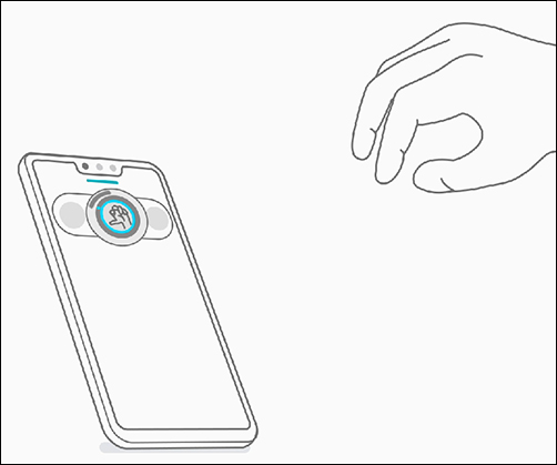Adjust volume by turning wrist