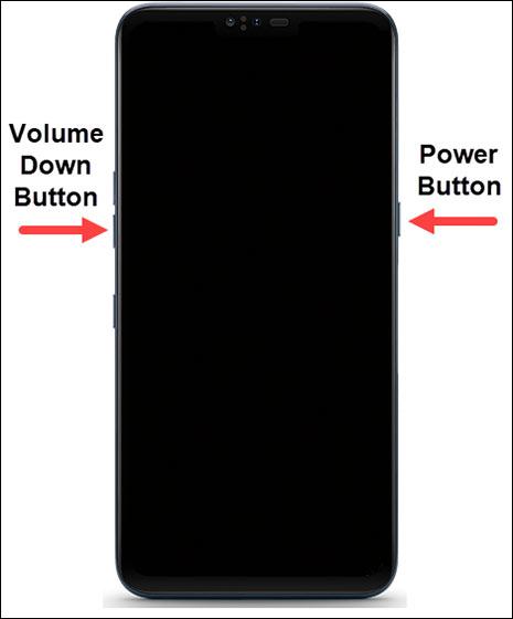 Mantén oprimido el botón de bajar volumen