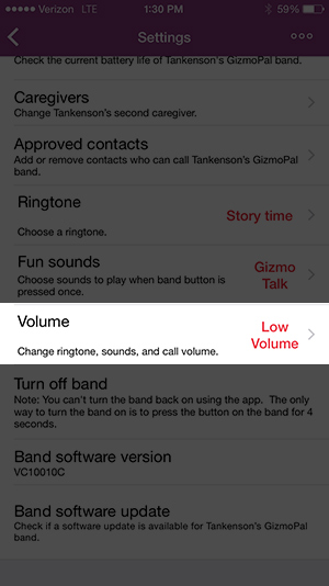 Volume iPhone