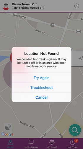 Troubleshoot location