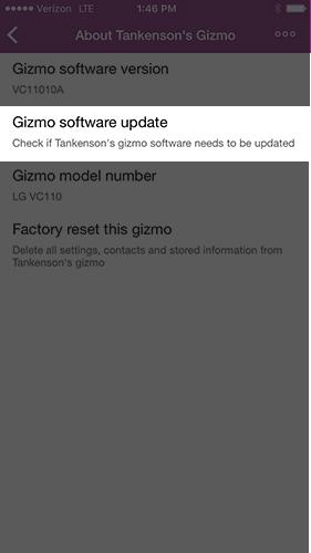 Versión de actualización de software